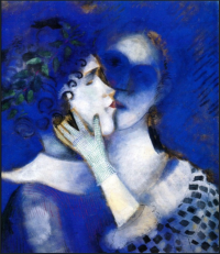 Chagall, blue lovers